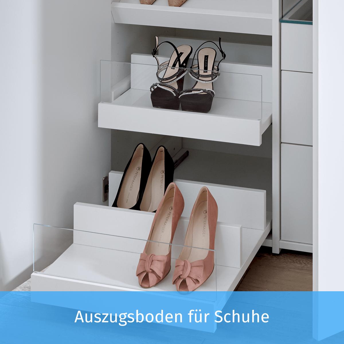 Auszugsboden für Schuhe
