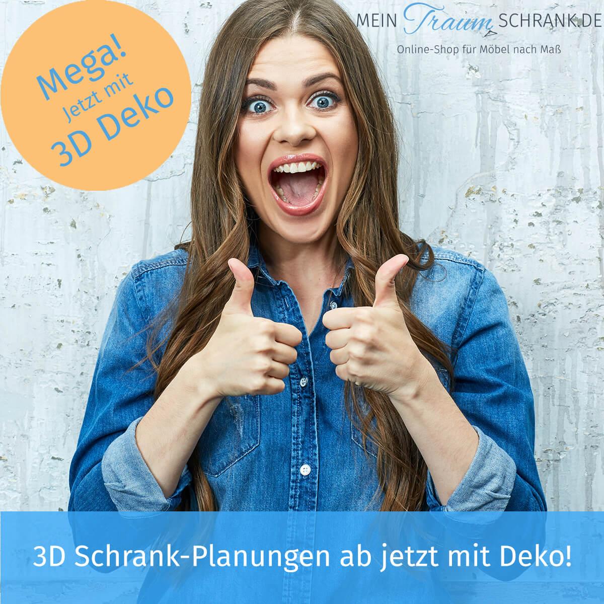 Schrank-Konfigurator in 3D mit Deko