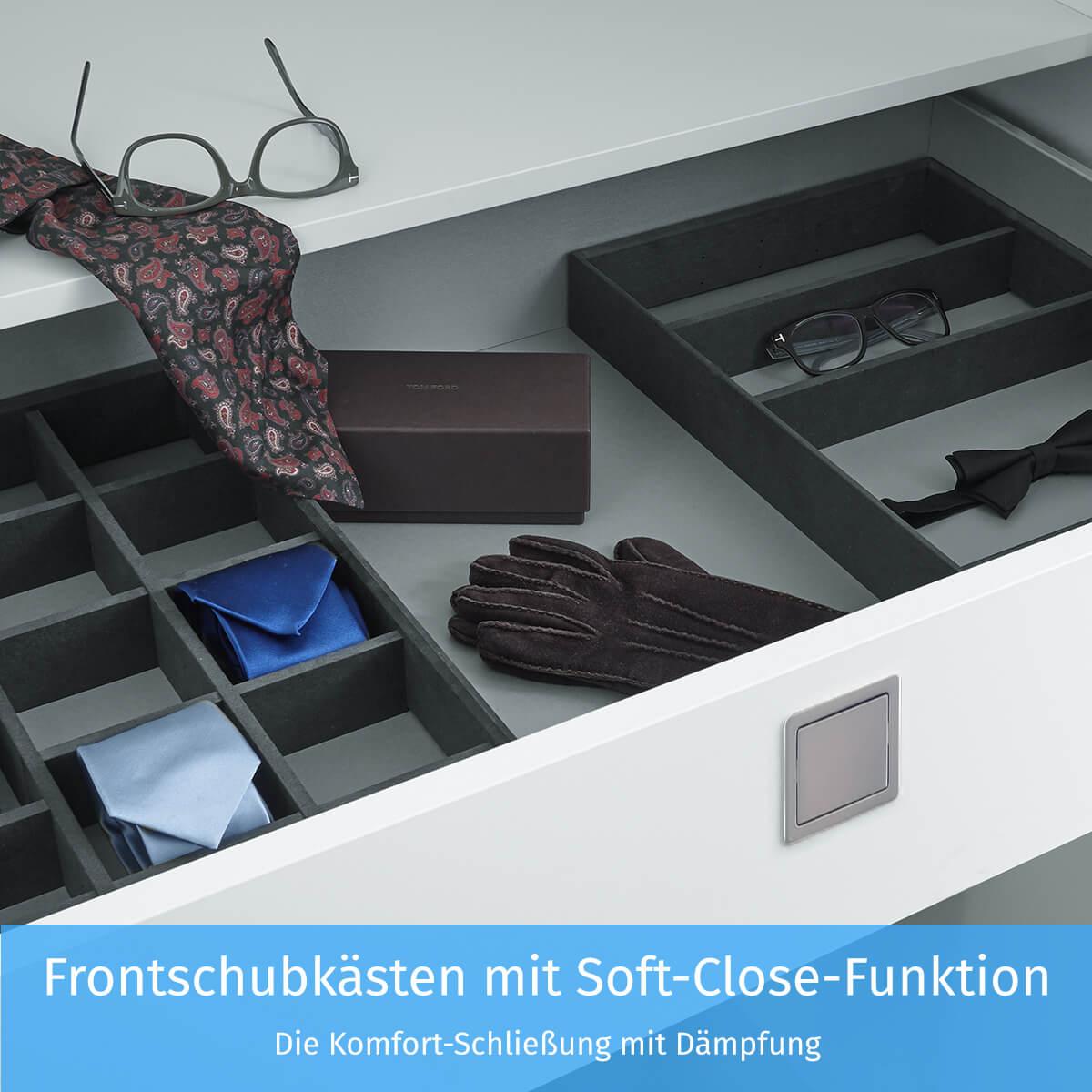 Frontschubkästen mit Soft-Close-Funktion
