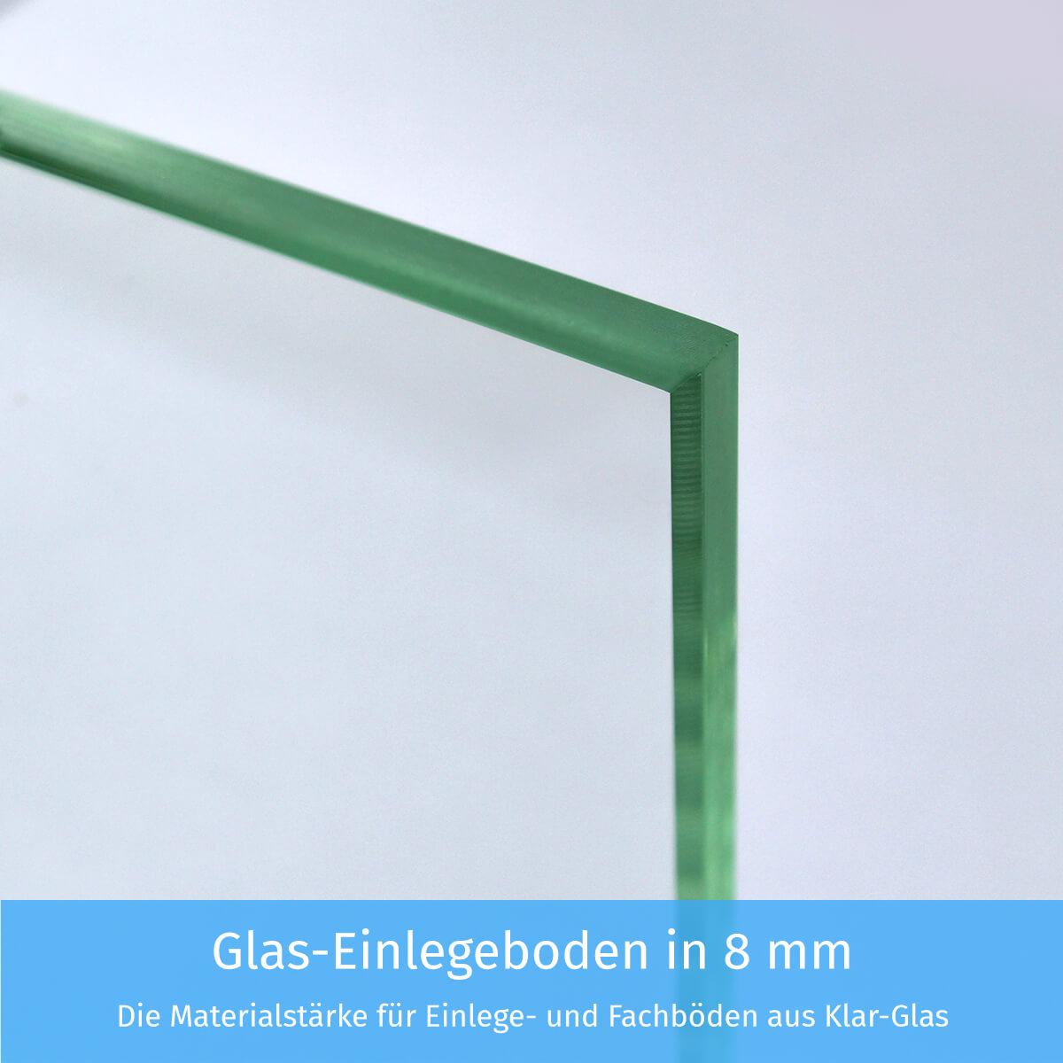 Glas-Einlegeboden in 8mm