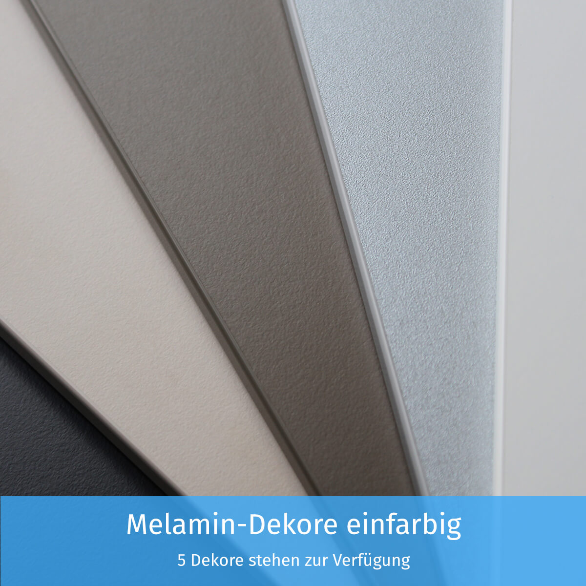 Melamin-Dekore einfarbig