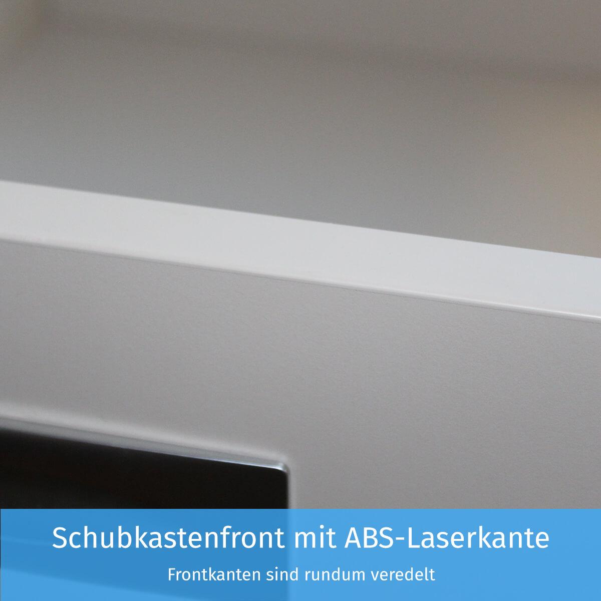 Schubkastenfront mit ABS-Laserkante
