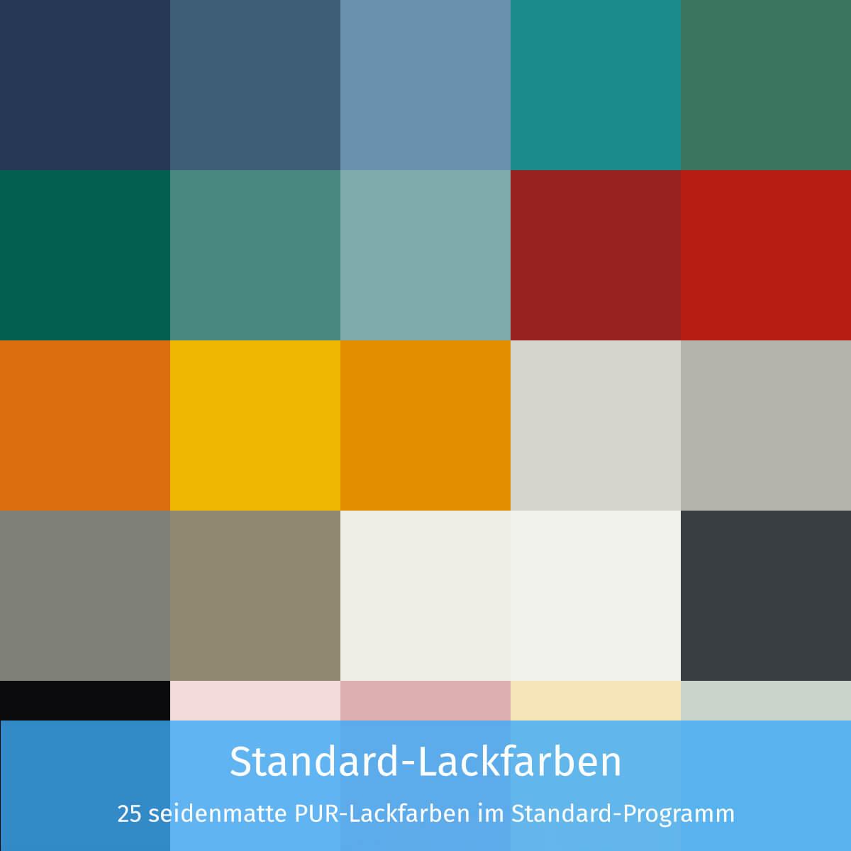 Standard-Lackfarben