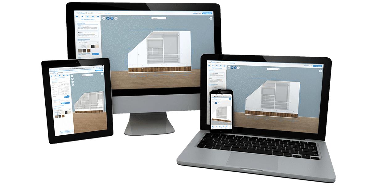 Responsive Schrank Konfigurator schnell und einfach planen, konfigurieren und bestellen