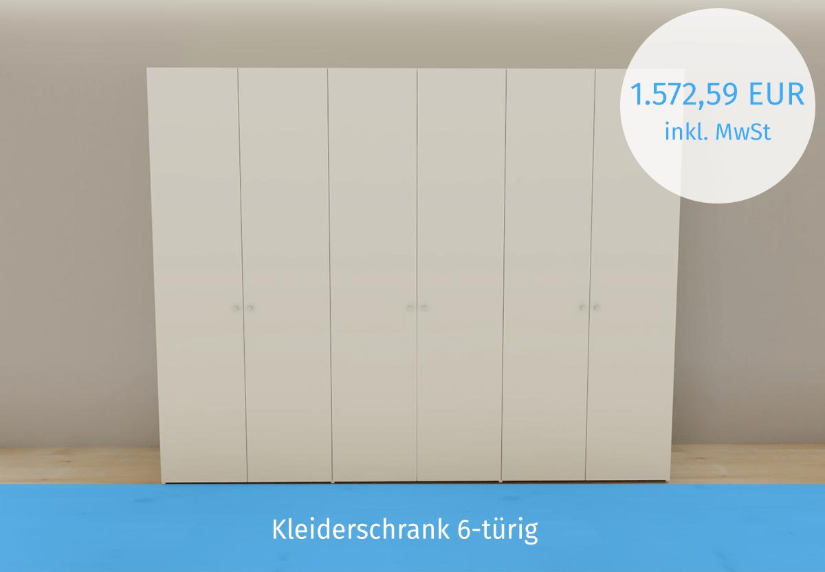 Schrank weiß 6-türig