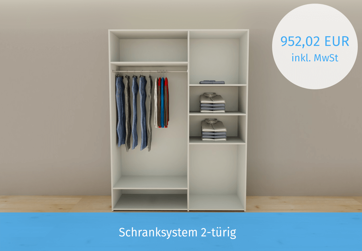 Schranksystem 2-türig