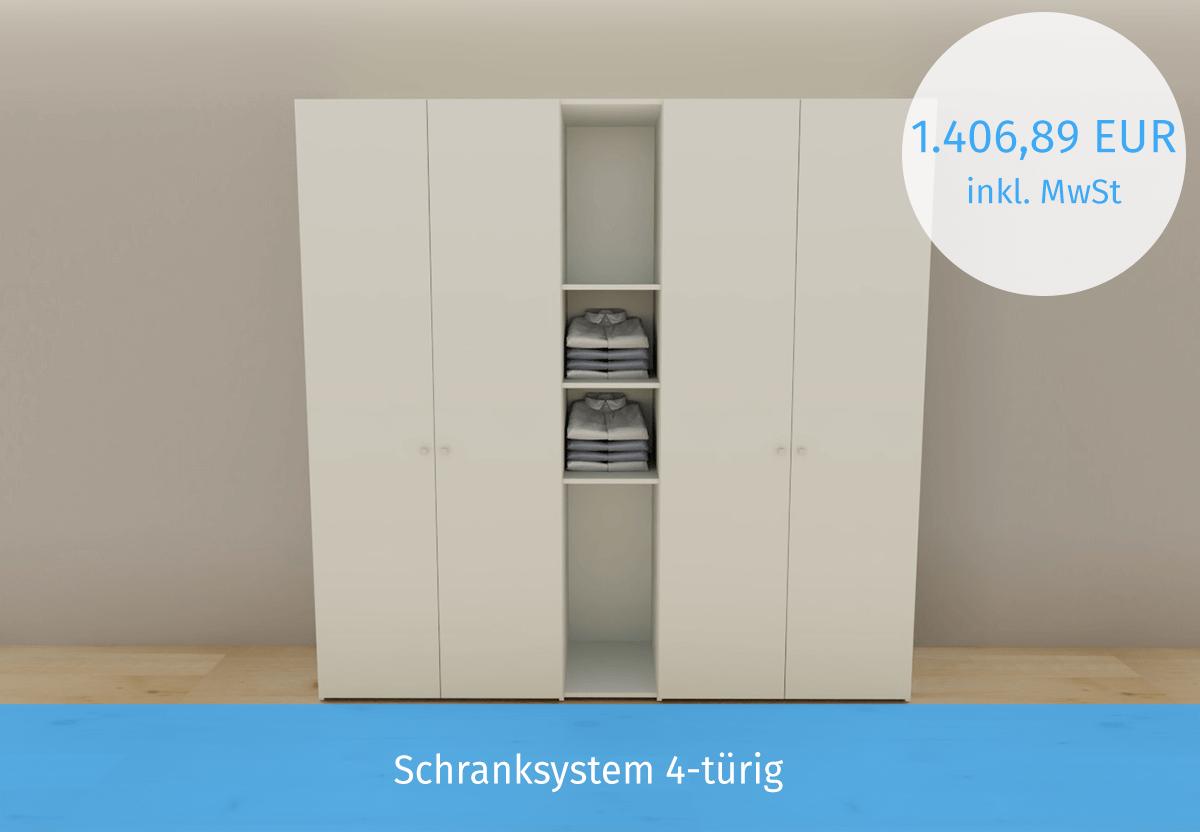Schranksystem 4-türig
