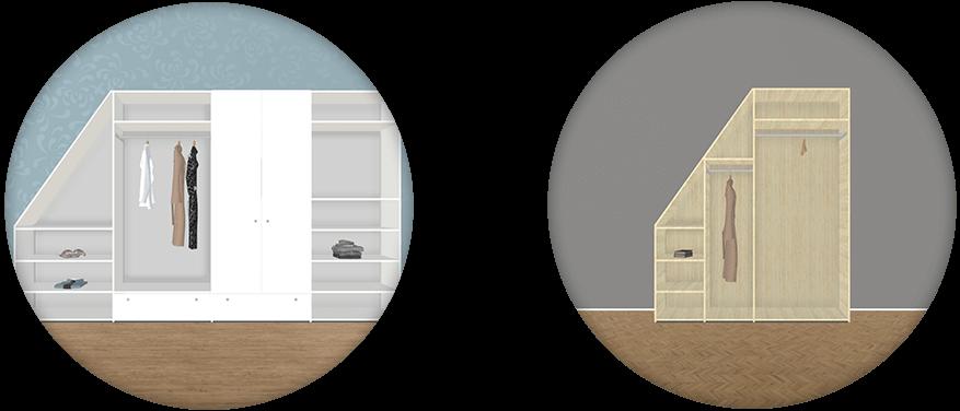Dachschräge links Beispiele