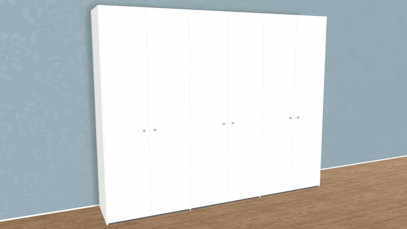 weißer Schrank mit 6 Türen