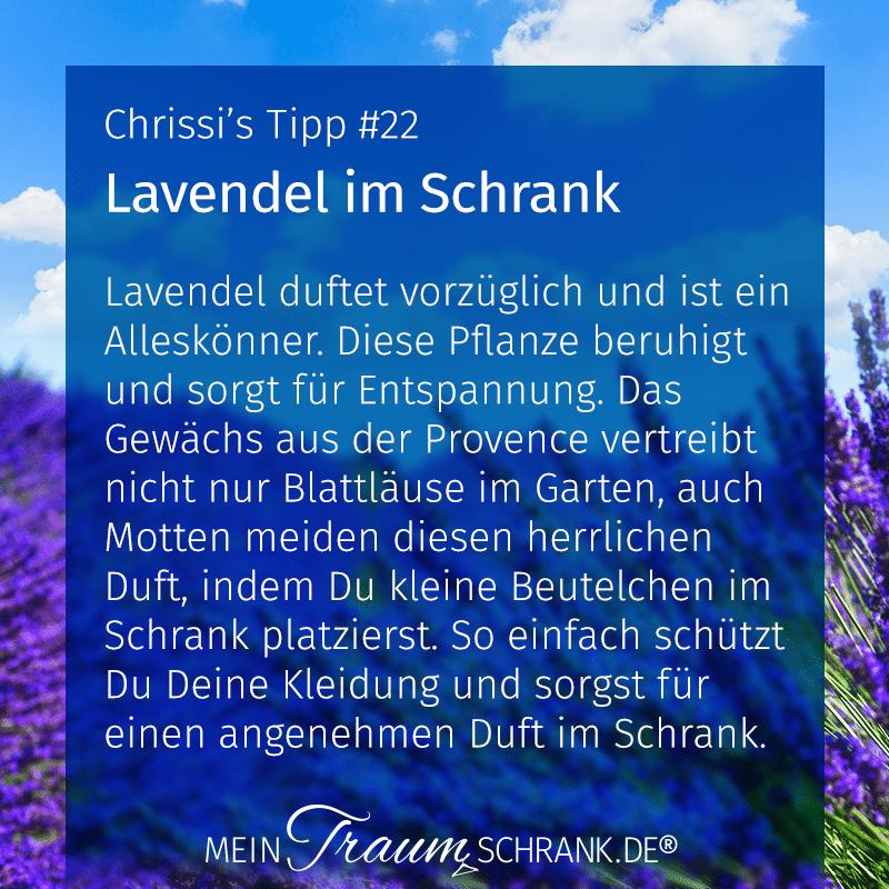 Chrissis Tipps Lavendel im Schrank